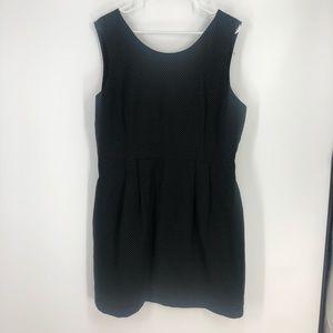 Retro black white polka dot pleated dress 16